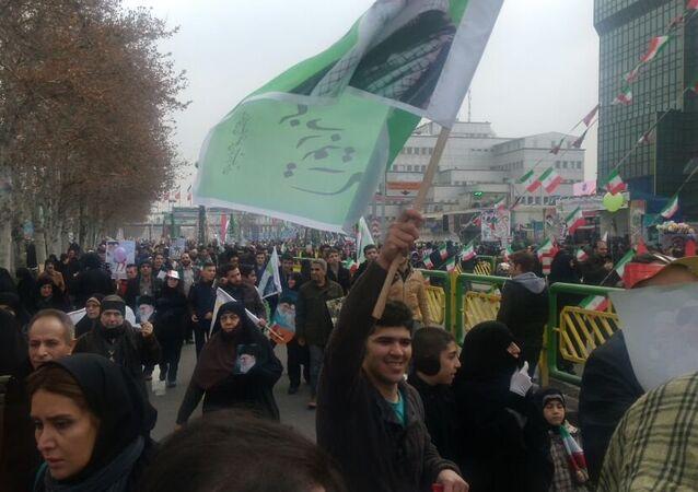 Celebraciones por el 38 aniversario de la Revolución Islámica en Teherán