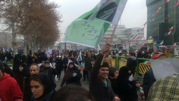 Celebraciones por el 38 aniversario de la Revolución Islámica en Teherán - Sputnik Mundo