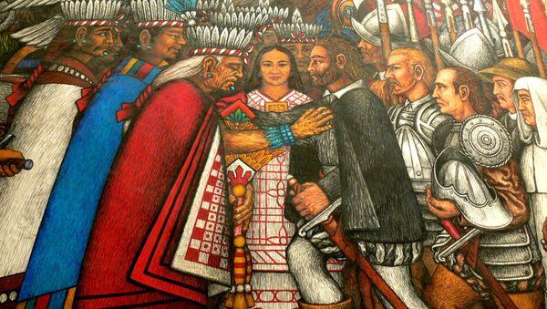 Discussions between Taxcaltecans and Hernan Cortes - Sputnik Mundo