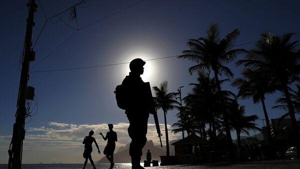 La policía brasileña - Sputnik Mundo