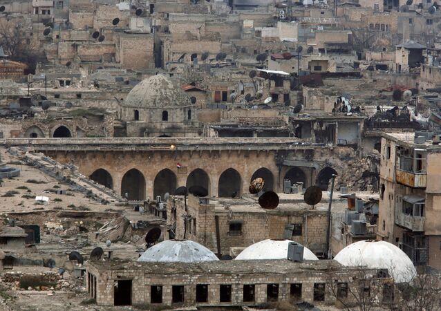 La Mezquita de los Omeyas, Alepo, Siria
