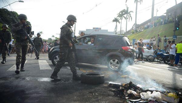 Crisis policial en Espírito Santo, Brasil - Sputnik Mundo