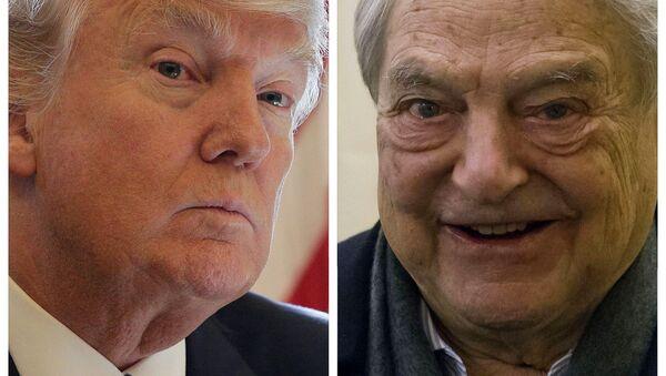 Donald Trump (a la izquierda) y George Soros (a la derecha) - Sputnik Mundo