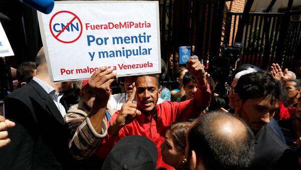 Protestas contra CNN en Venezuela - Sputnik Mundo