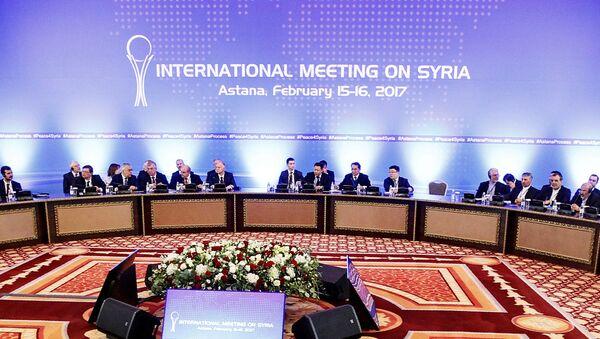 Consultas siria en Astaná (archio) - Sputnik Mundo