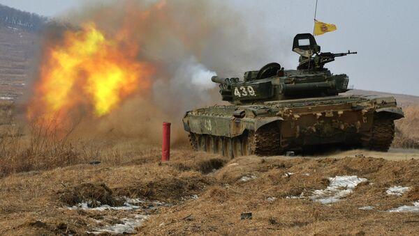 Etapas del biatlón de tanques en las regiones de Primorie y Voronezh - Sputnik Mundo