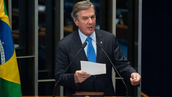 Senador Fernando Collor discursa no plenário do Senado Federal - Sputnik Mundo