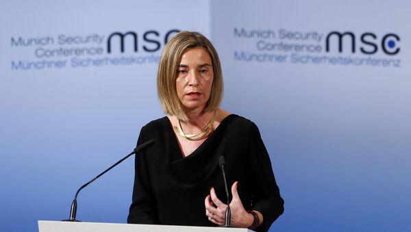 La Alta Representante de Política Exterior y de Seguridad Común de la Unión Europea, Federica Mogherini - Sputnik Mundo