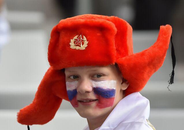 Un hincha ruso
