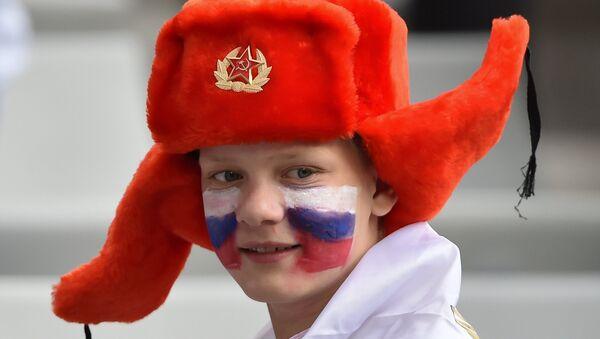 Un hincha ruso - Sputnik Mundo
