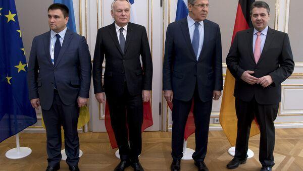 Los cancilleres de Exteriores del Cuarteto de Normandía (Alemania, Francia, Ucrania y Rusia) - Sputnik Mundo