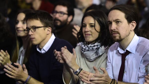 Íñigo Errejón, Irene Montero y Pablo Iglesias - Sputnik Mundo