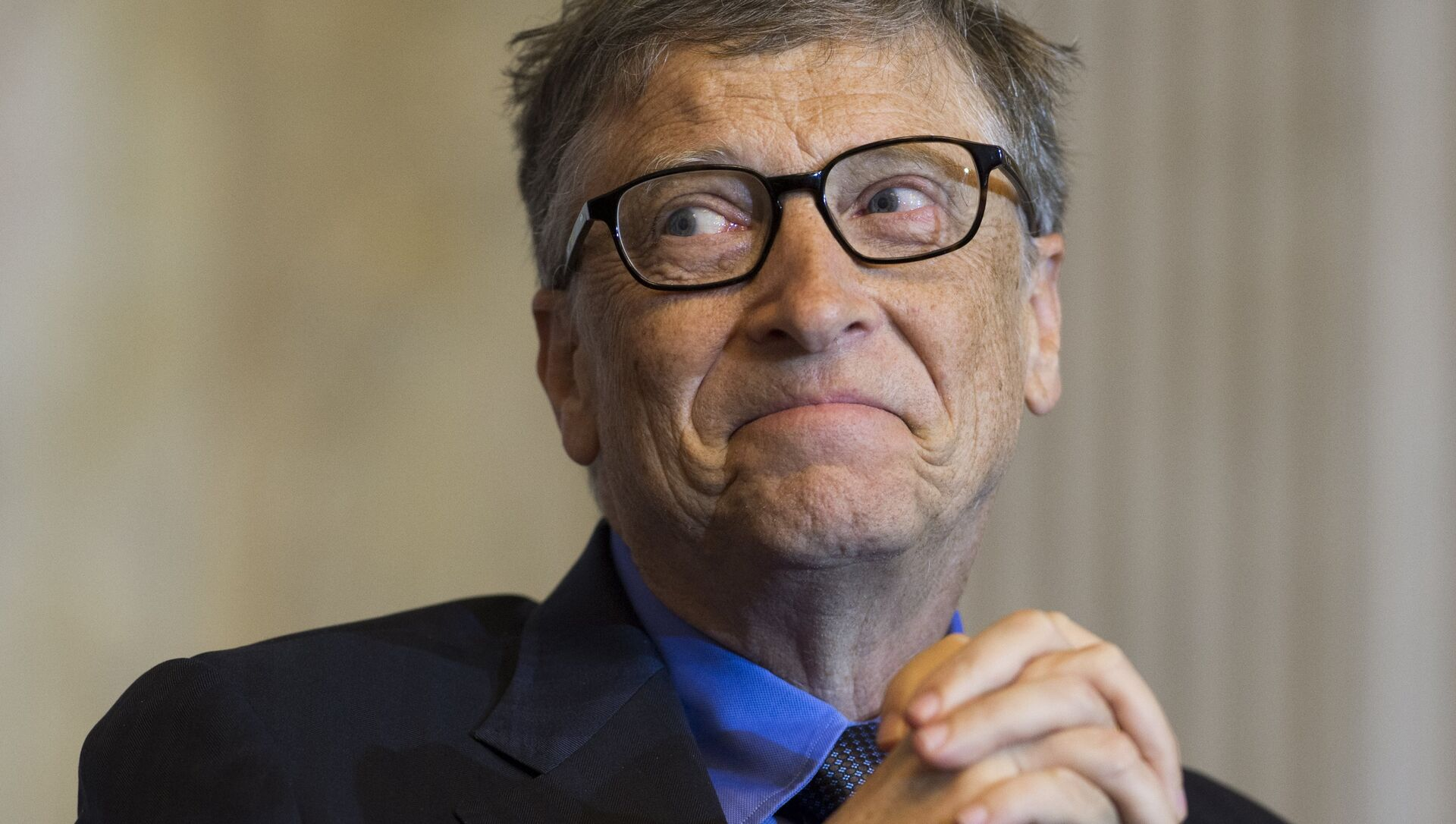 Bill Gates, co-chair of the Bill and Melinda Gates Foundation and founder of Microsoft, participates in the Financial Inclusion Forum at the Treasury Department in Washington, DC, December 1, 2015.  - Sputnik Mundo, 1920, 27.01.2021