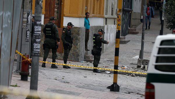 Lugar de explosión en Bogotá, Colombia - Sputnik Mundo