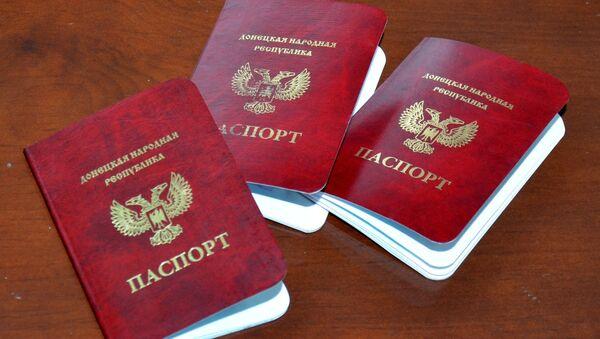 Pasaportes de las repúblicas de Donetsk y Lugansk - Sputnik Mundo