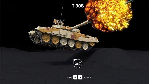 El tanque T-90S - Sputnik Mundo