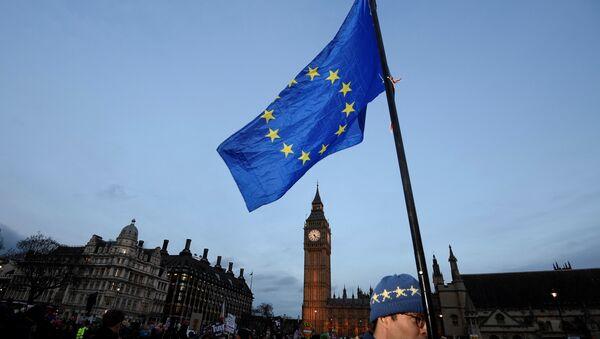 Bandera de la Unión Europea (archivo) - Sputnik Mundo