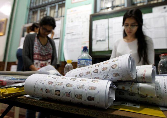 Сómputo de votos en las elecciones presidenciales en Ecuador