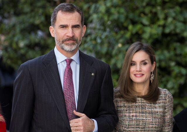 El rey Felipe VI y la reina Letizia