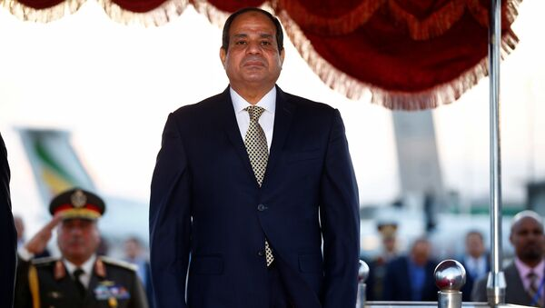 Egypt's President Abdel Fattah al-Sisi is received on his arrival at the Bole International Airport ahead of the 28th Ordinary Session of the Assembly of the Heads of State and the Government of the African Union in Ethiopia's capital Addis Ababa, January 29, 2017 - Sputnik Mundo