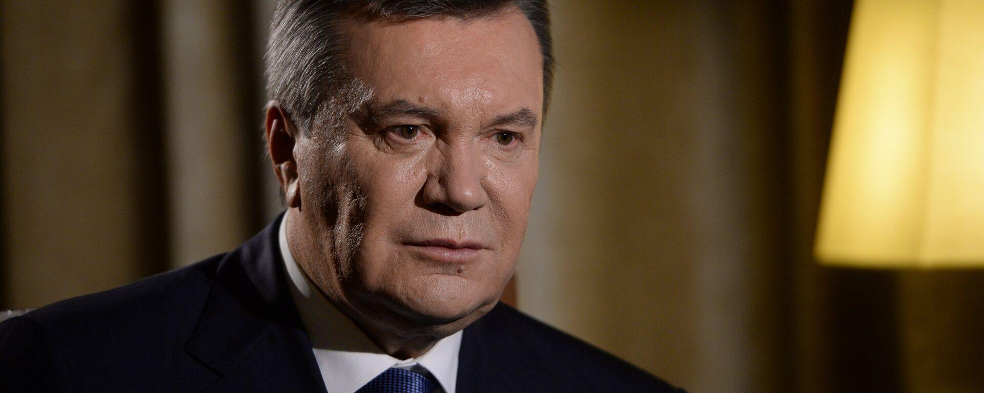 Бывший президент Украины Виктор Янукович дал интервью РИА Новости - Sputnik Mundo, 1920, 17.08.2021