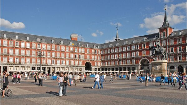 Plaza mayor de Madrid, España - Sputnik Mundo