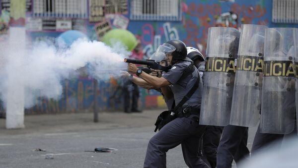 Enfrentamientos entre policía y usuarios de droga en Sao Paulo - Sputnik Mundo