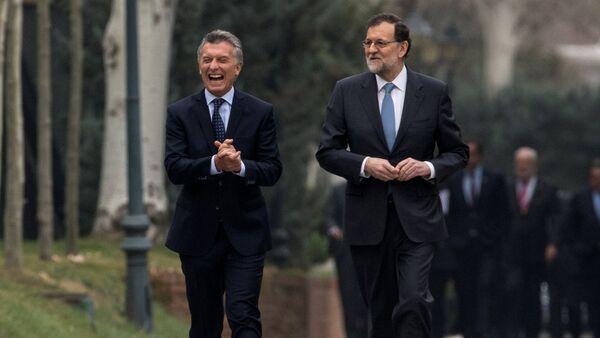 Mauricio Macri, presidente de Argentina, y Mariano Rajoy, presidente del Gobierno español - Sputnik Mundo