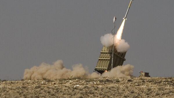 El sistema de defensa antimisiles israelí 'Cúpula de Hierro', el antecesor del Sky Sabre (imagen referencial) - Sputnik Mundo