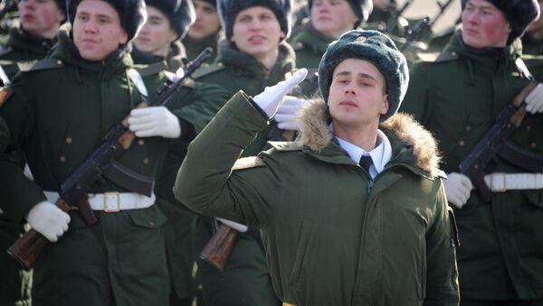 Celebración del día del defensor de la patria en Rusia - Sputnik Mundo