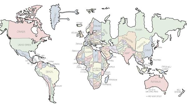 Mapamundi de Randall Munroe - Sputnik Mundo