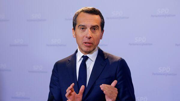 El canciller de Austria, Christian Kern - Sputnik Mundo
