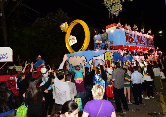 Desfile Krewe of Endymion en Nueva Orleans