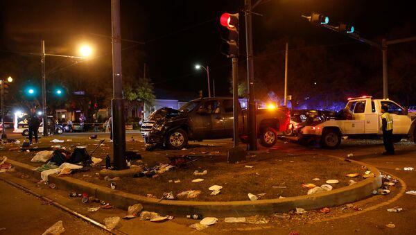 El lugar del accidente en Nueva Orleans - Sputnik Mundo