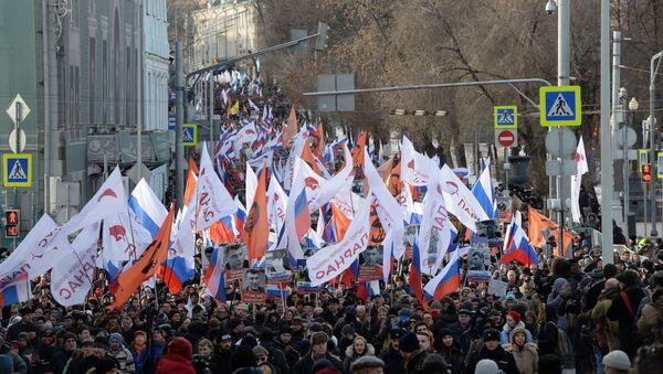 Marcha en Moscú en memoria de Borís Nemtsov - Sputnik Mundo