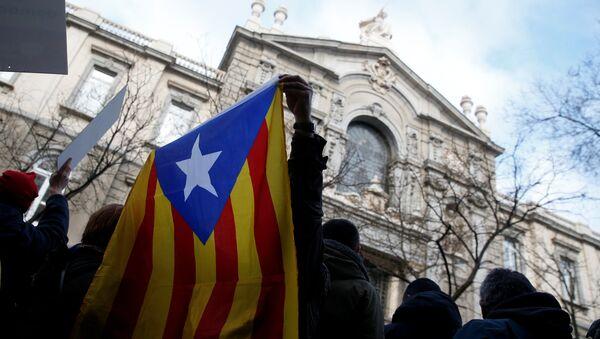 Partidarios de la soberanía de Cataluña - Sputnik Mundo