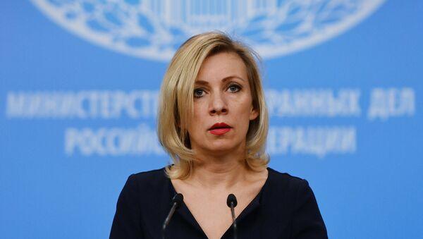 La portavoz de la Cancillería rusa, María Zajárova - Sputnik Mundo