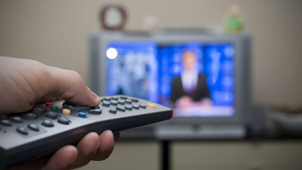 Television set and remote control - Sputnik Mundo
