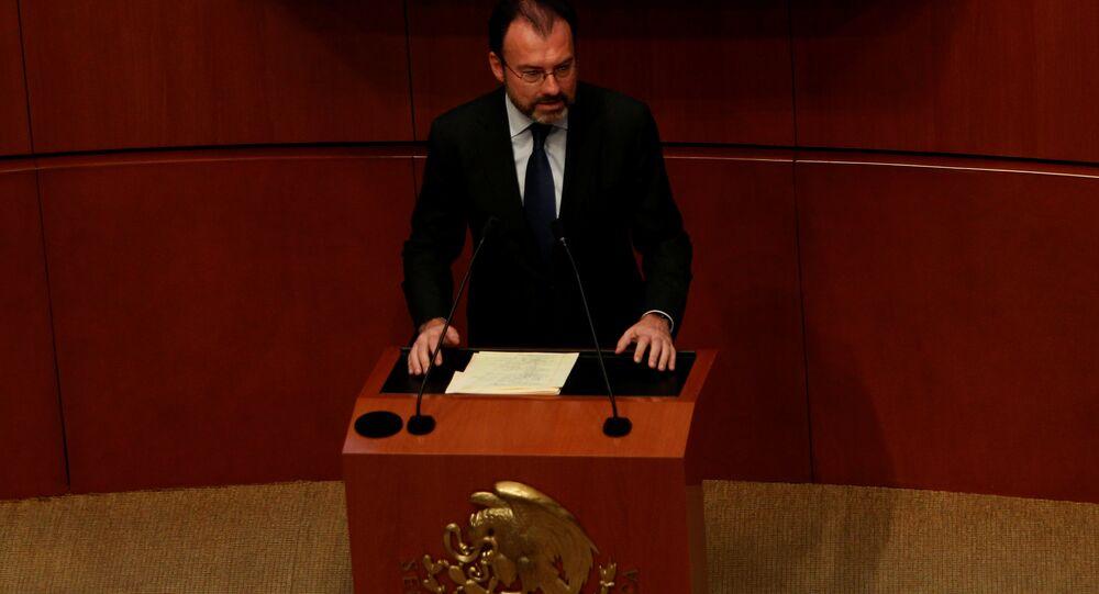 Canciller de México Luis Videgaray en el Senado