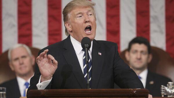 El primer discurso de Donald Trump en el Congreso de EEUU - Sputnik Mundo