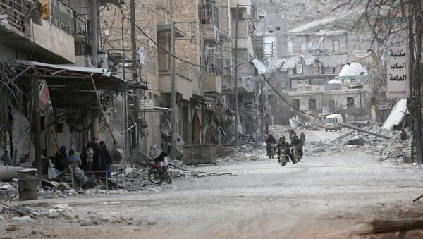 Edificios destruidos en Siria (archivo) - Sputnik Mundo