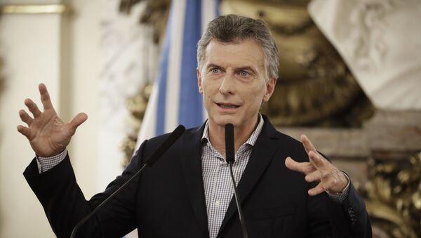 Mauricio Macri, presidente de Argentina - Sputnik Mundo