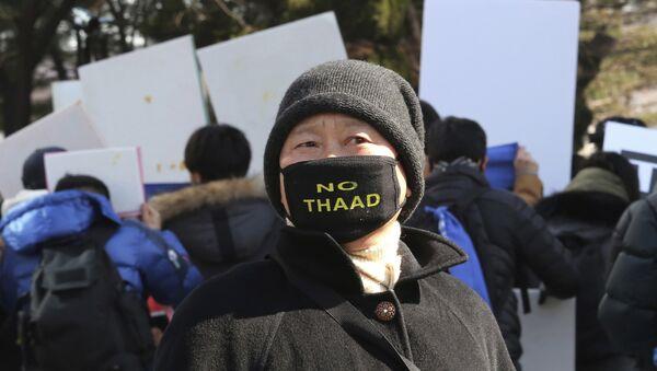 Protesta contra despliegue del THAAD en Corea del Sur - Sputnik Mundo