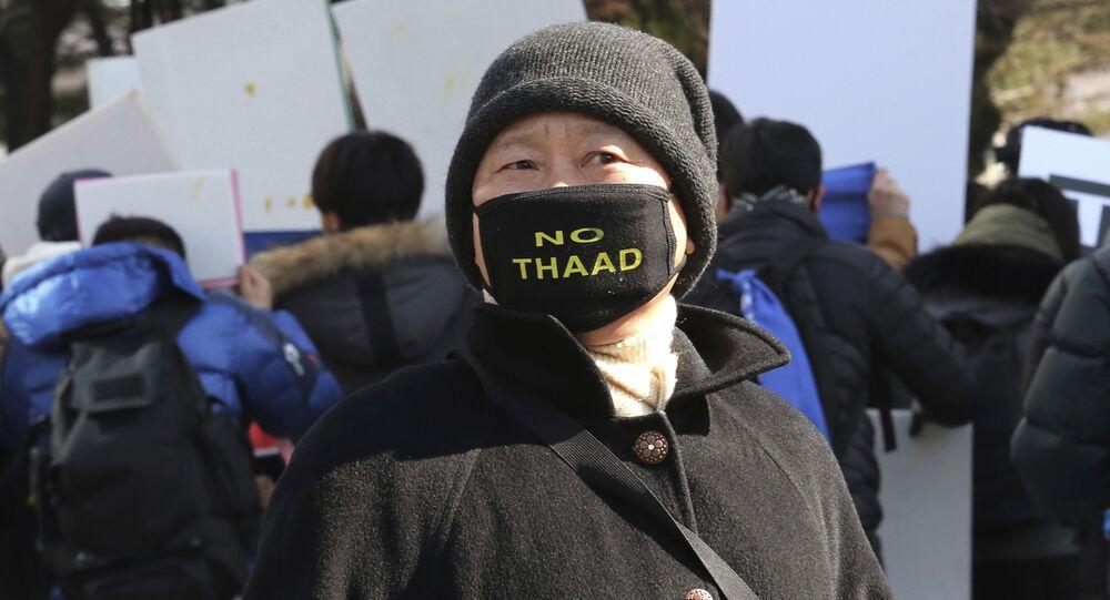 Protesta contra despliegue del THAAD en Corea del Sur