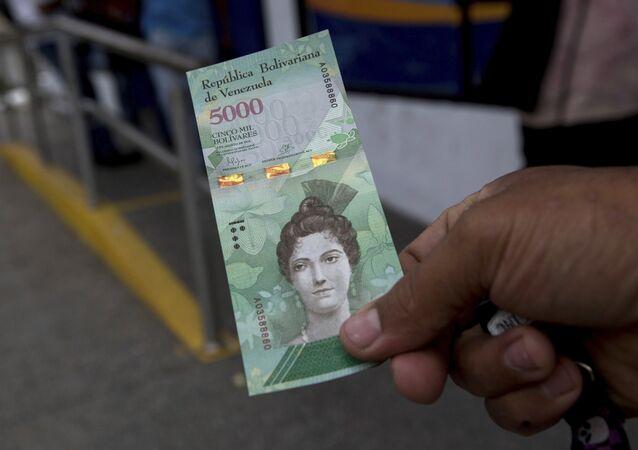 Billetes de bolívares venezolanos (archivo)