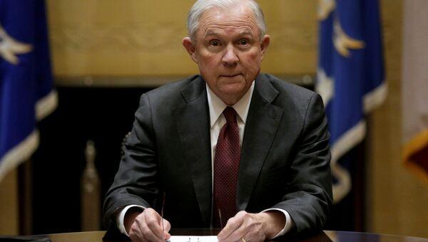 Jeff Sessions, secretario de Justicia de Estados Unidos - Sputnik Mundo