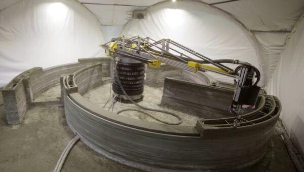 Una impresora 3D construyendo una vivienda - Sputnik Mundo