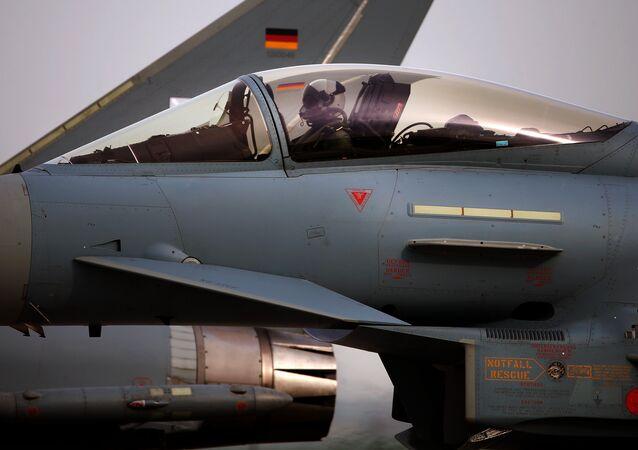 Un Eurofighter Typhoon de las FFAA de Alemania