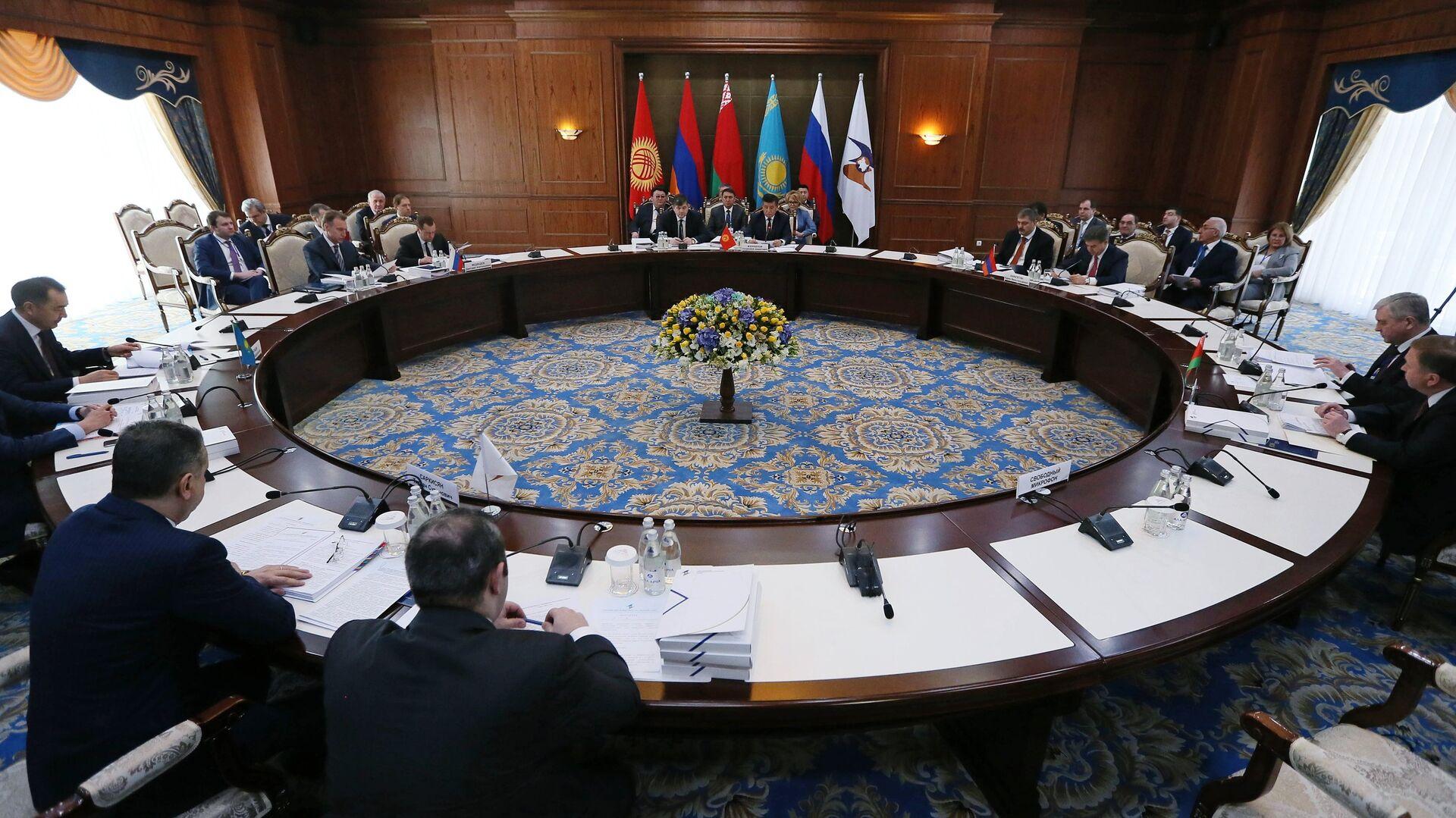 Una reunión de la Unión Económica Euroasiática (archivo) - Sputnik Mundo, 1920, 21.05.2021