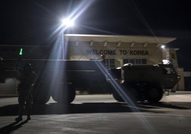 Las primeras partes del escudo antimisiles THAAD llegan a Corea del Sur